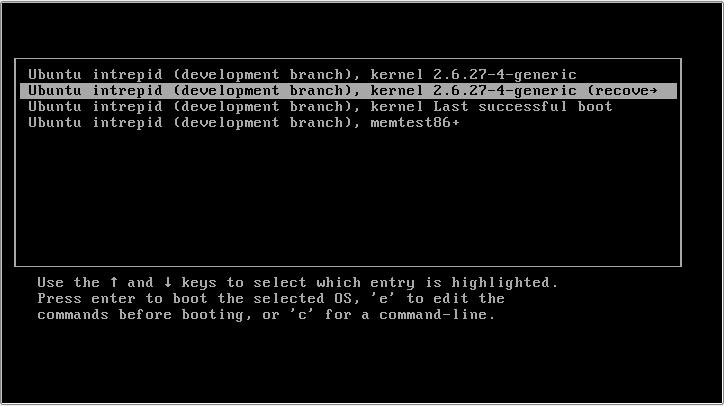 reset password boot menu